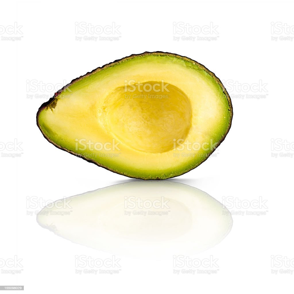 perfect half of an avocado section stock photo
