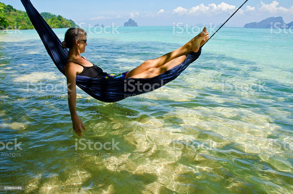 Perfect Hammock Day stock photo