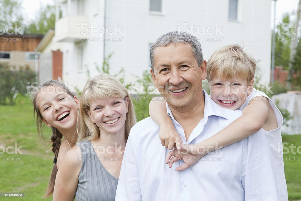 Perfect Happy Family at home royalty-free stock photo