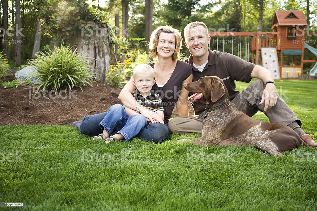 Perfect Happy Family royalty-free stock photo