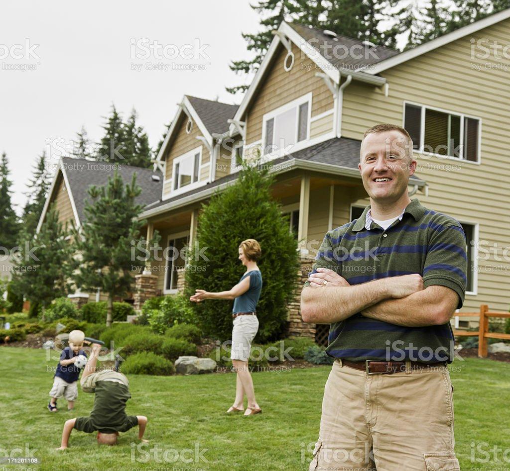 Perfect Happy Family royalty-free stock photo