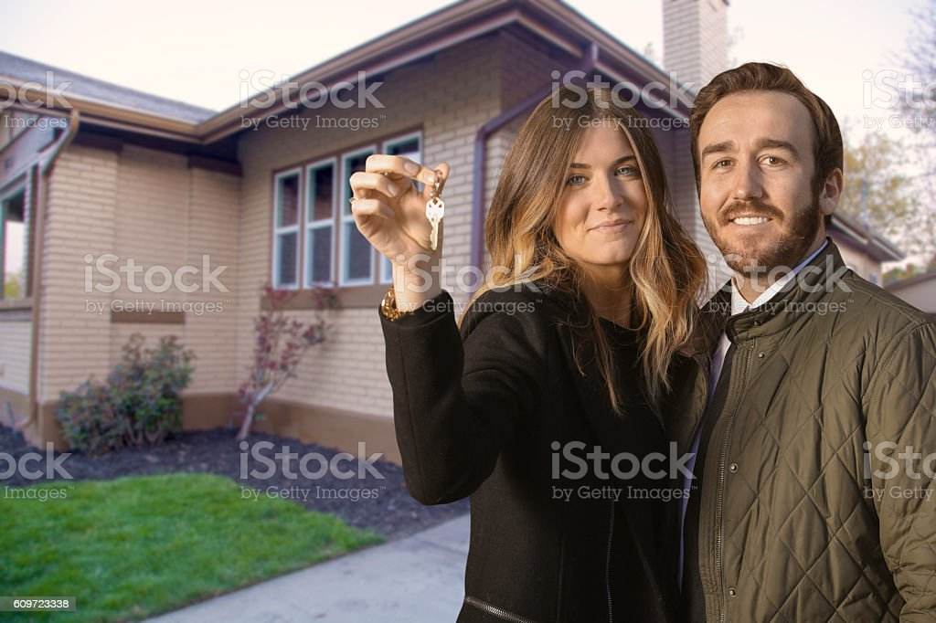 Perfect home purchase stock photo
