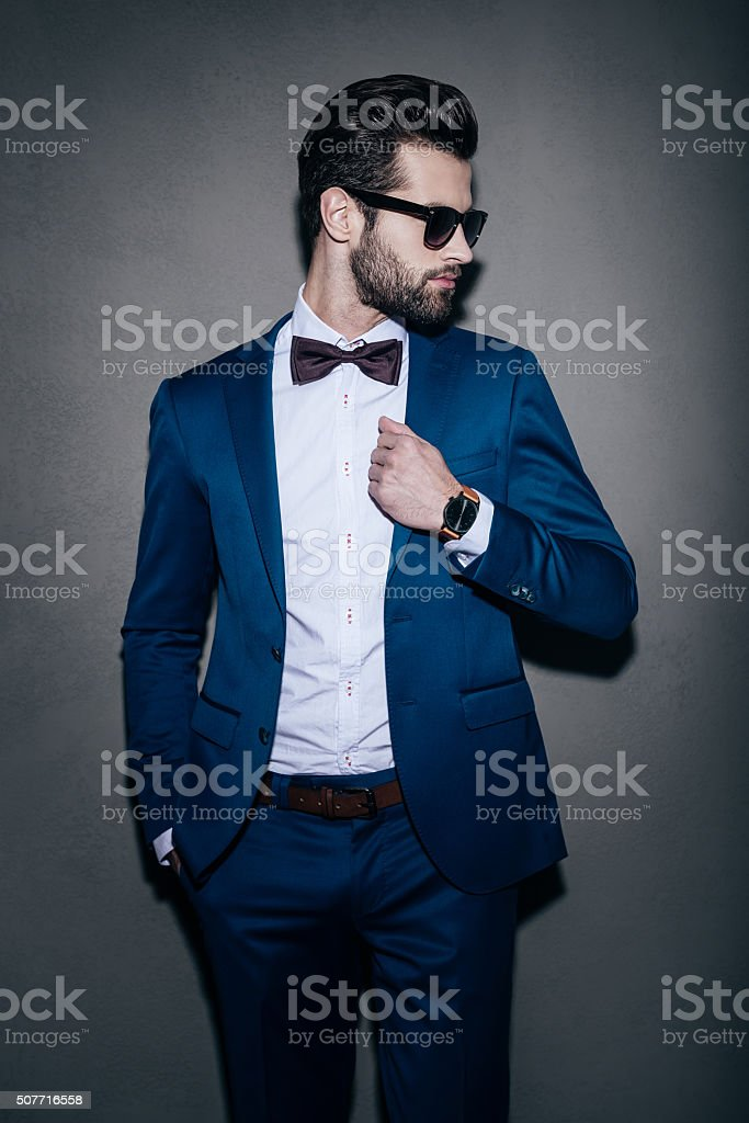 Perfect in his style. stock photo
