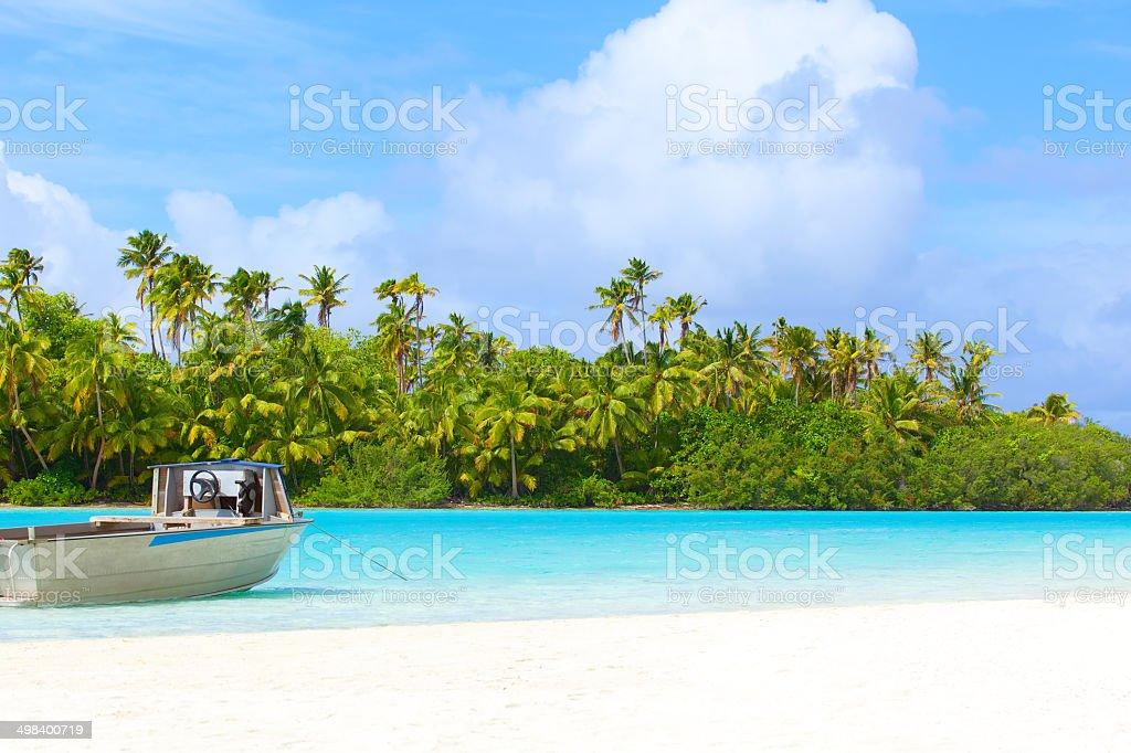 perfect island stock photo