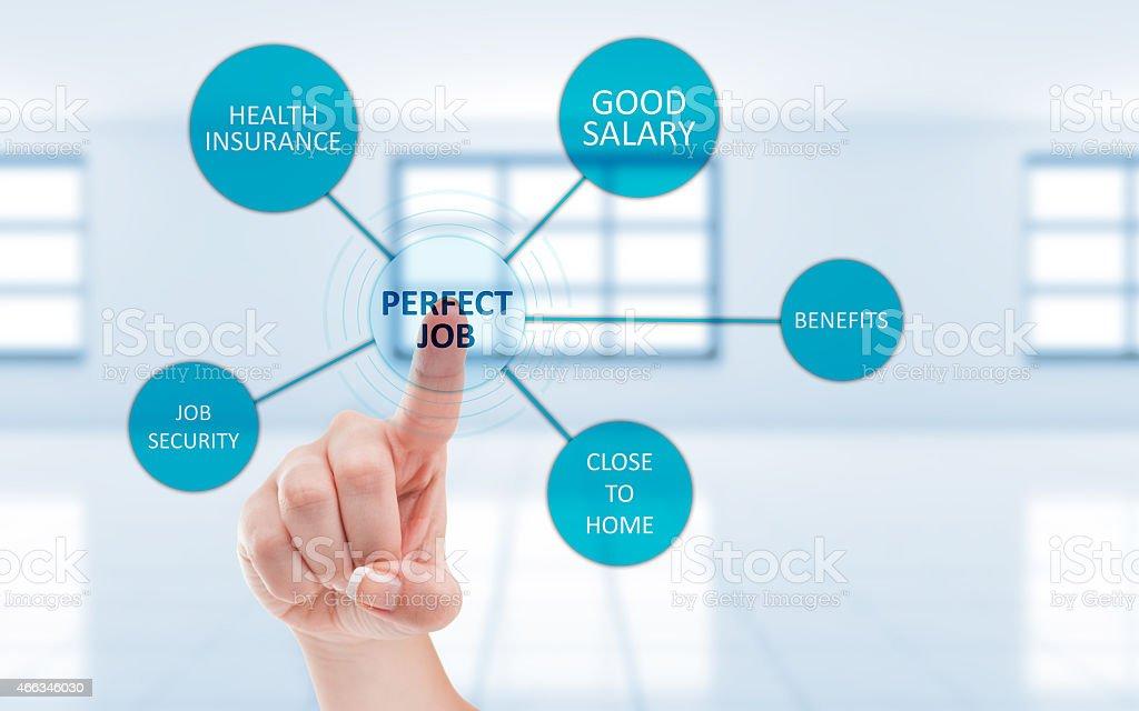 Perfect job concept stock photo