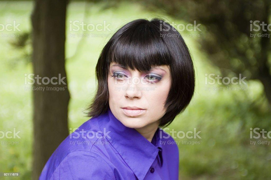 Perfect lady portrait stock photo