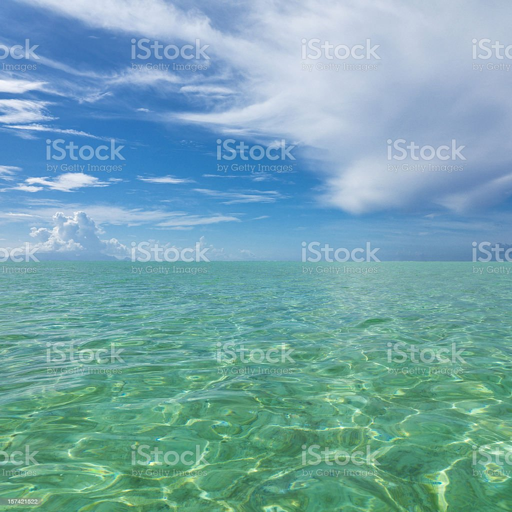 Perfect Lagoon and Summer Sky royalty-free stock photo