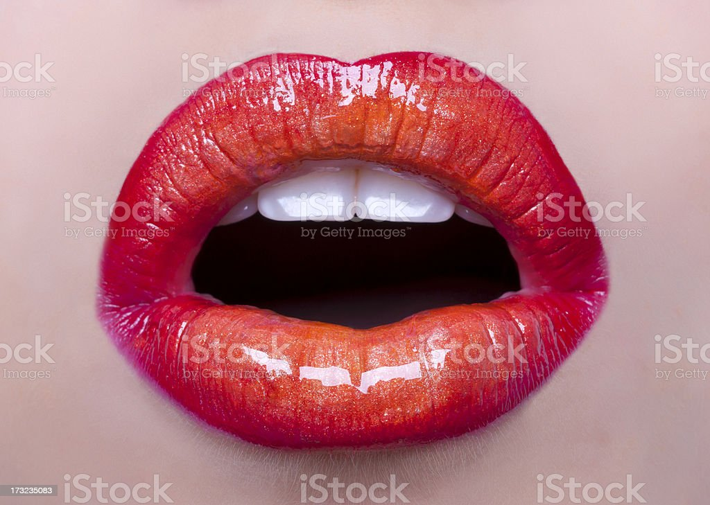 perfect lips stock photo