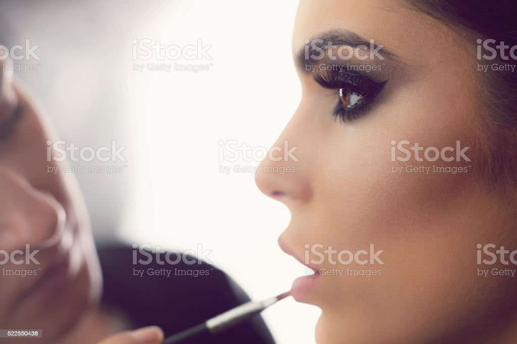 Perfect Make-Up Application stock photo