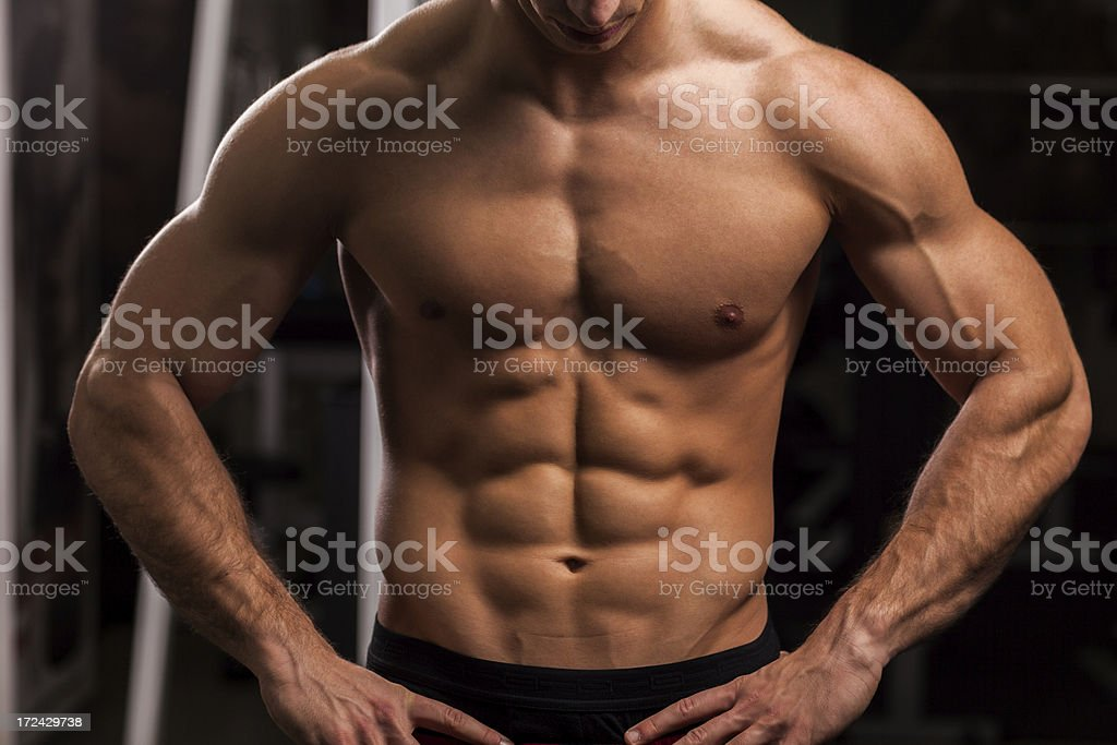 perfect male body royalty-free stock photo