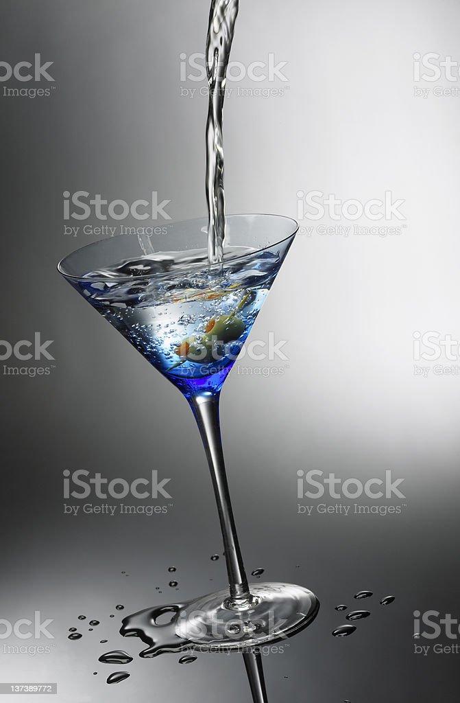 Perfect Martini Pour stock photo