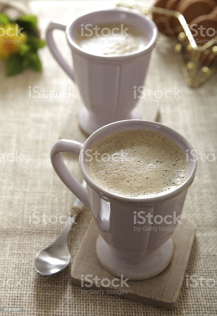 perfect morning coffee top view royalty-free stock photo