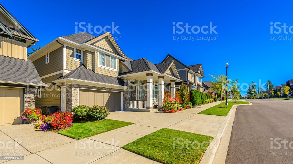 Perfect Neighbourhood stock photo