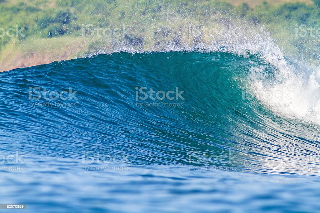 Perfect ocean wave. royalty-free stock photo