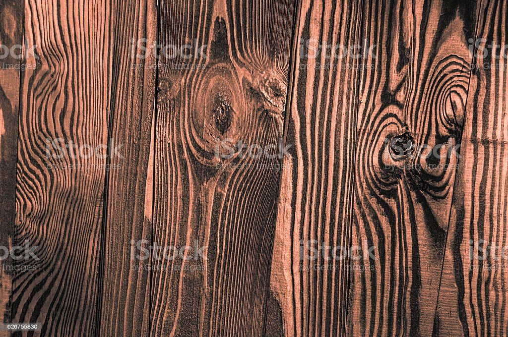 Perfect orange grayish orangish irregular old dark bright wood stock photo