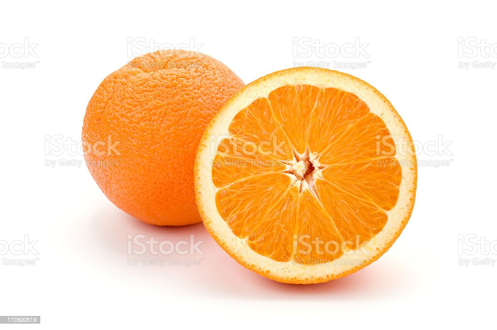 Perfect oranges (CLIPPING PATH included) royalty-free stock photo