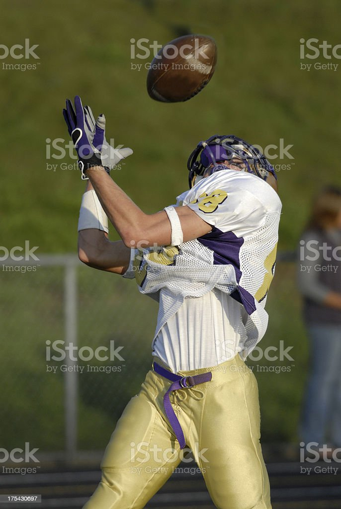 Perfect over the shoulder catch royalty-free stock photo