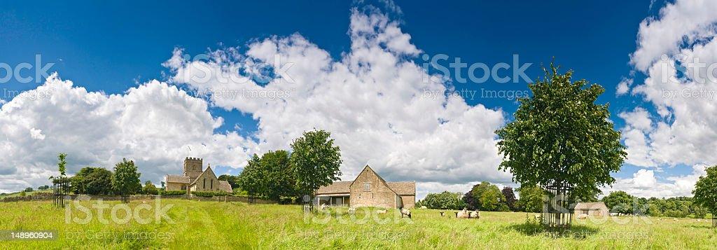 Perfect pastoral panorama royalty-free stock photo