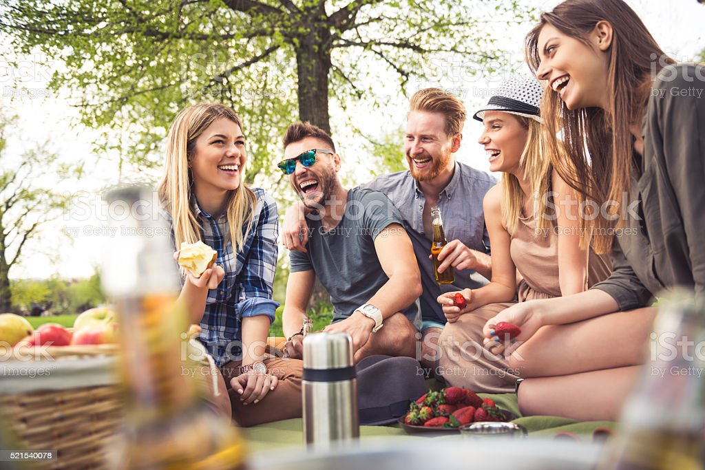 Perfect picnic vibes stock photo