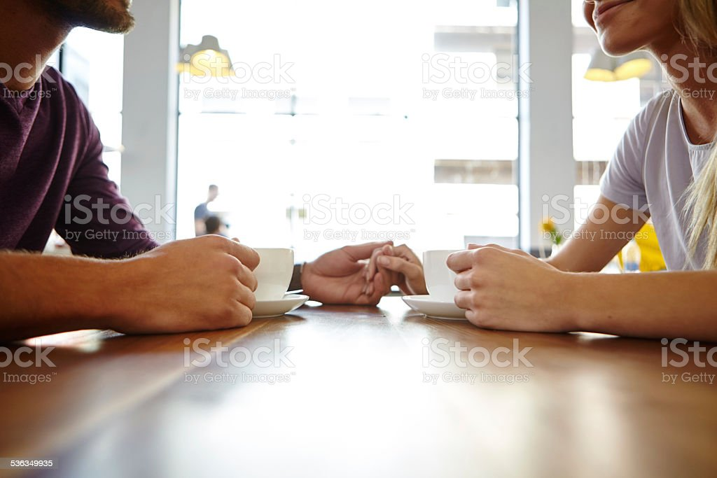 Perfect place for a coffee date stock photo