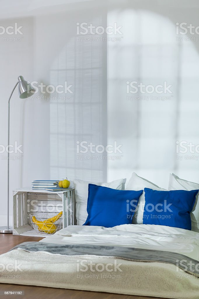 Perfect place for cold winter night stock photo