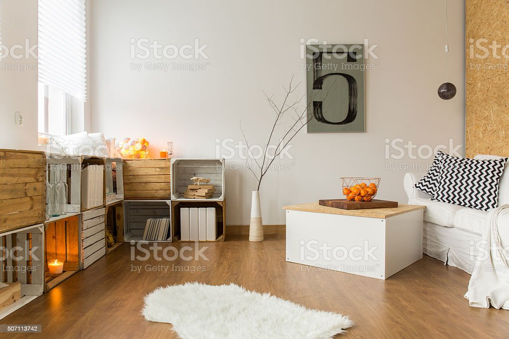 Perfect place for cold winter stock photo