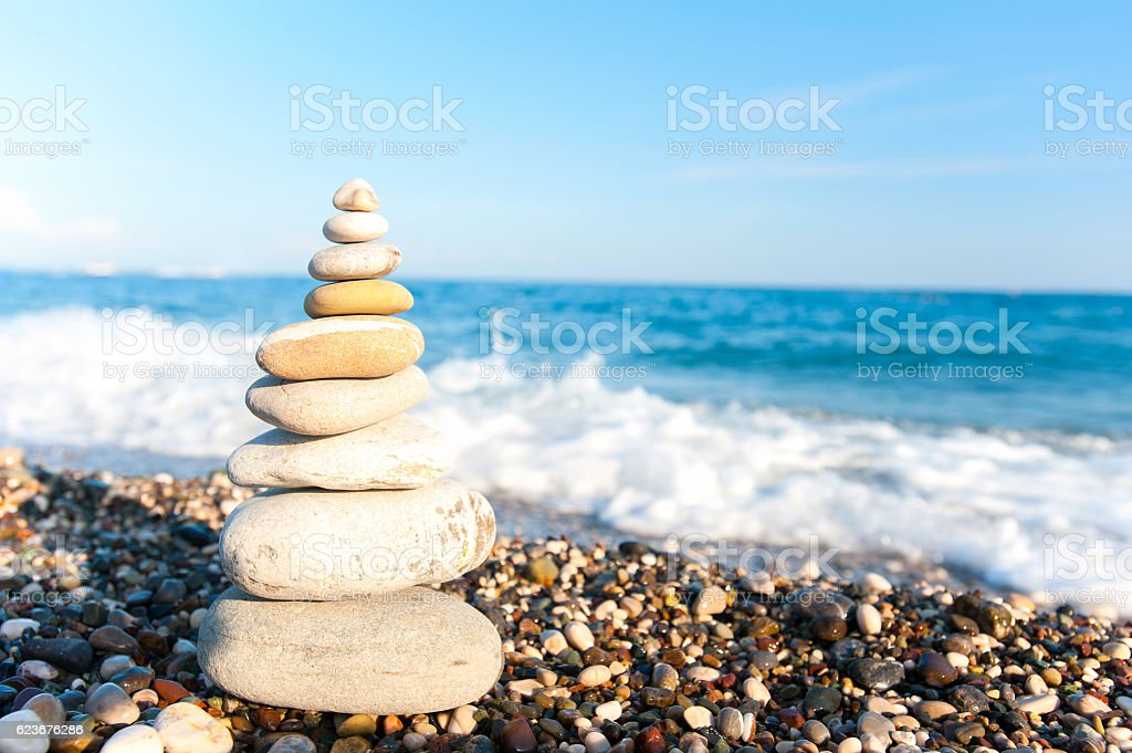 Perfect place for contemplating and relaxing. Peace and harmony. stock photo
