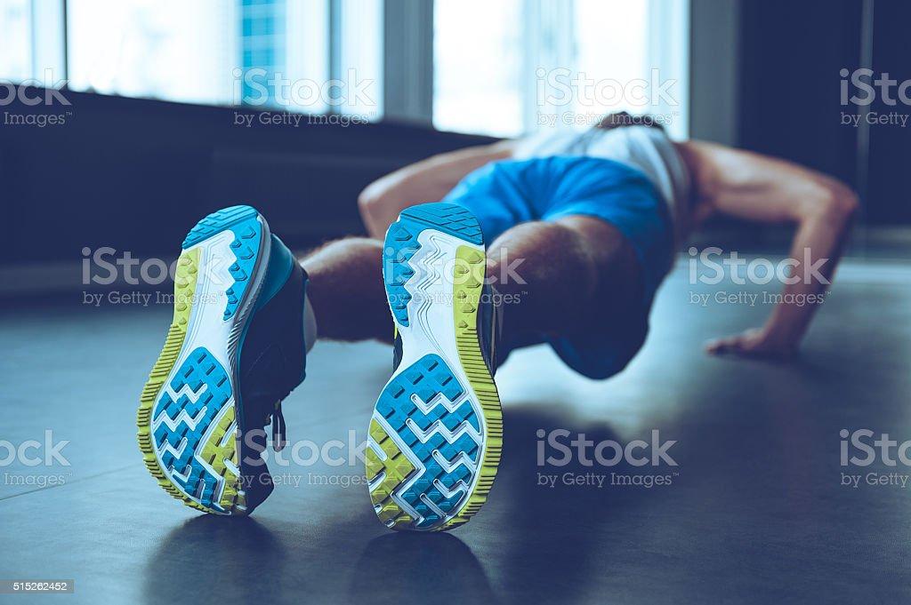 Perfect push-up. stock photo