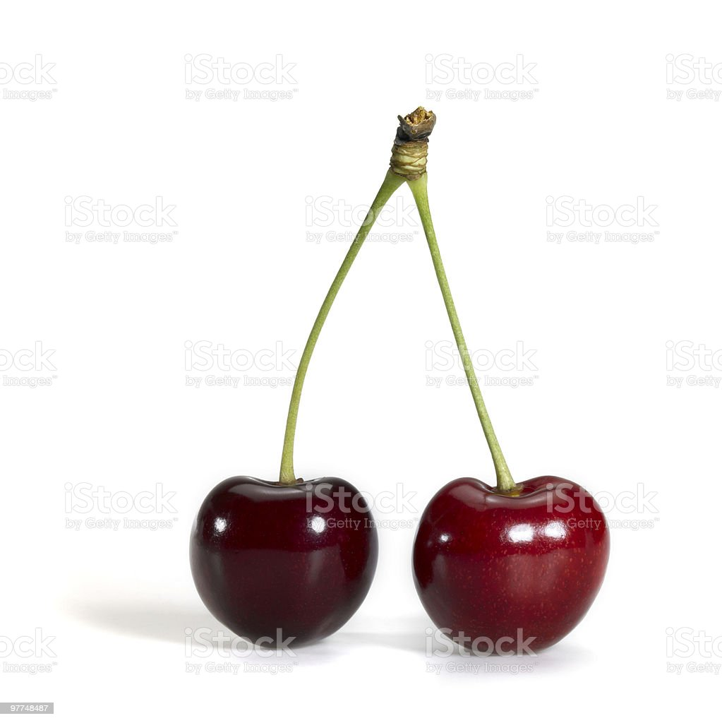 perfect red cherry royalty-free stock photo