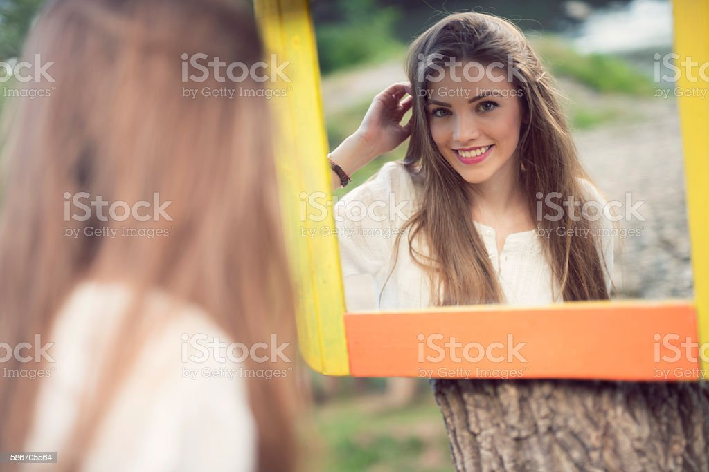 Perfect reflection stock photo