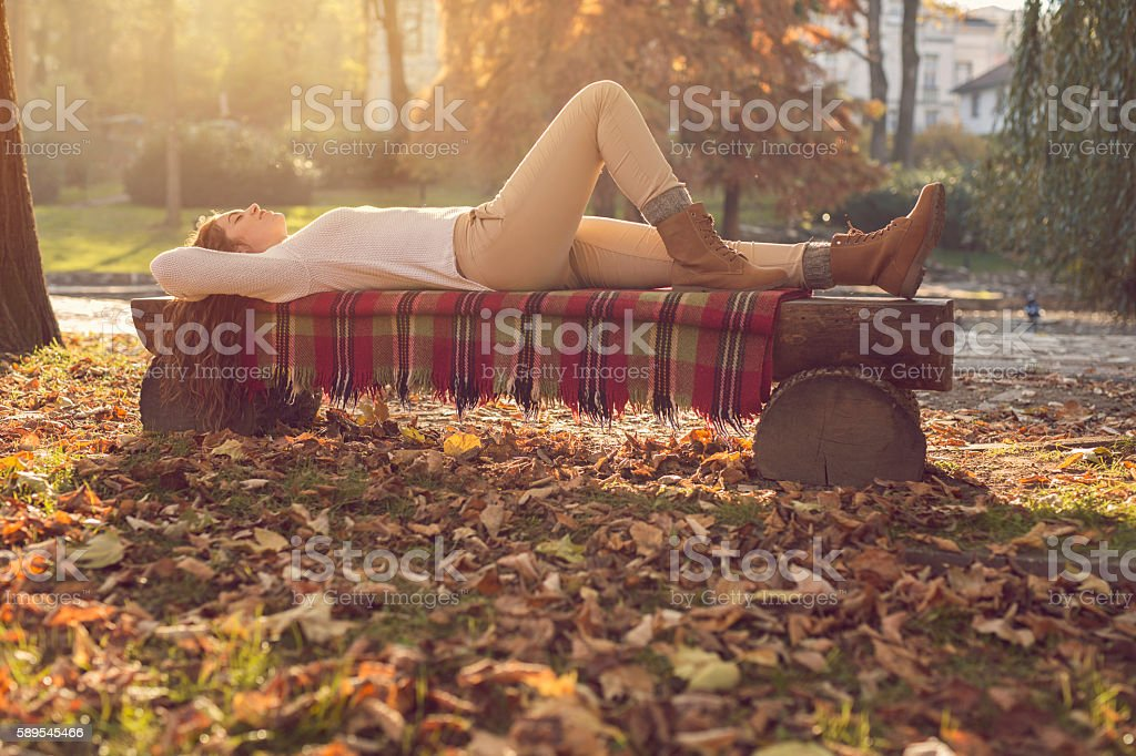 Perfect relaxation stock photo