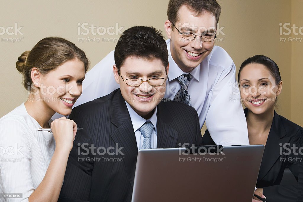 Perfect result of teamwork stock photo