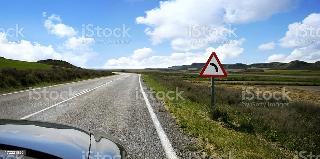 perfect road royalty-free stock photo