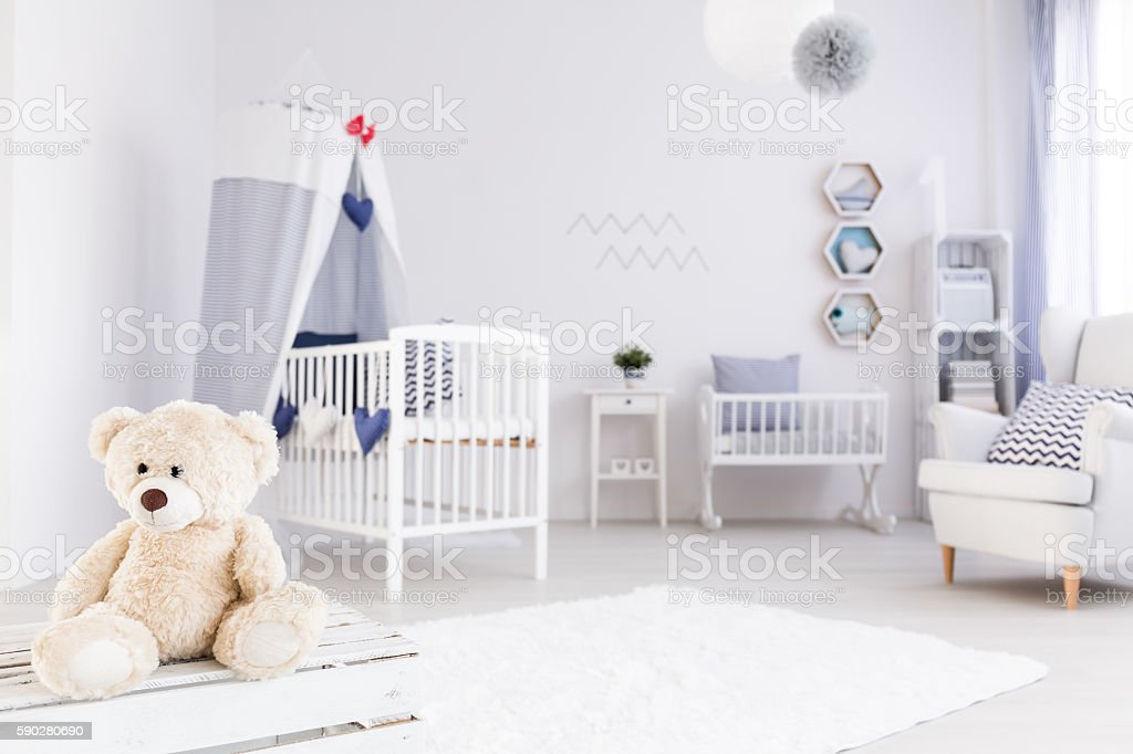 Perfect room for little sailor girl stock photo