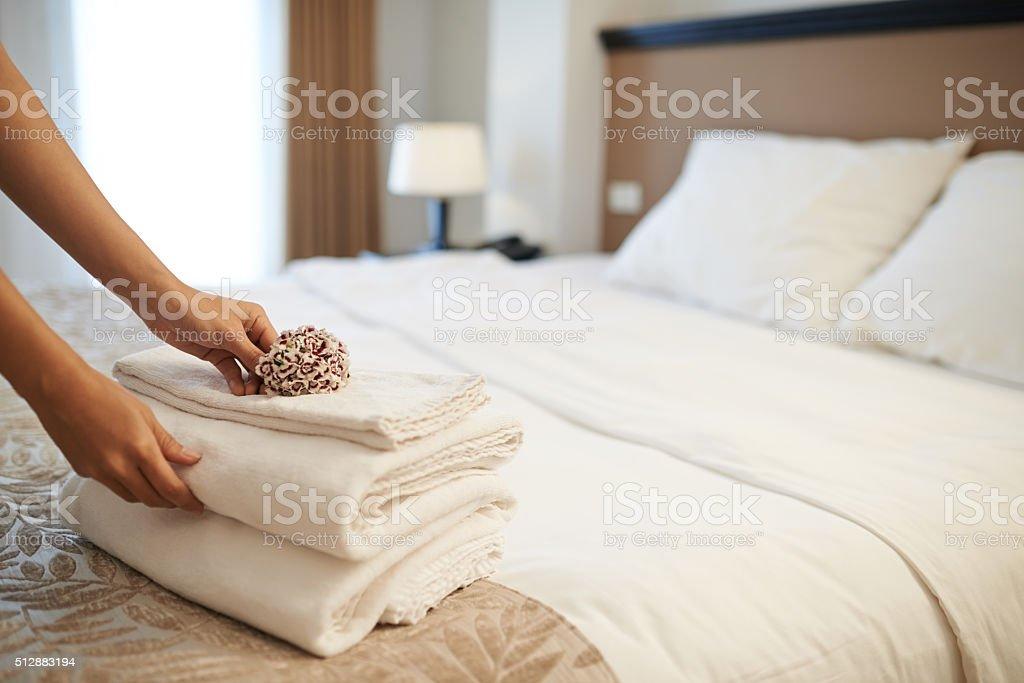 Perfect room service stock photo