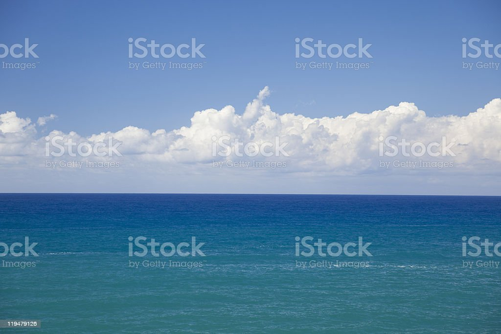 Perfect sea and cloud. royalty-free stock photo