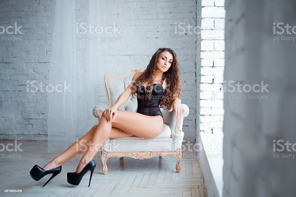 Perfect, sexy body, legs and ass of young woman wearing stock photo