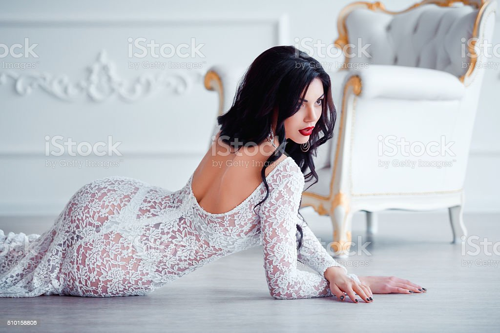 Perfect, sexy legs and ass of young woman wearing seductive stock photo