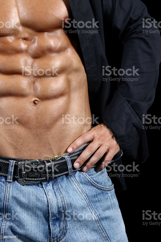 Perfect six-pack royalty-free stock photo