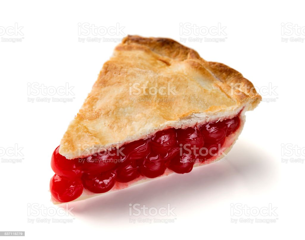 Perfect Slice of Cherry Pie stock photo