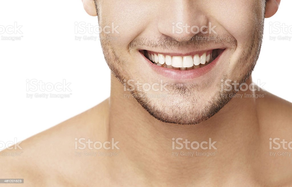 Perfect smile. stock photo