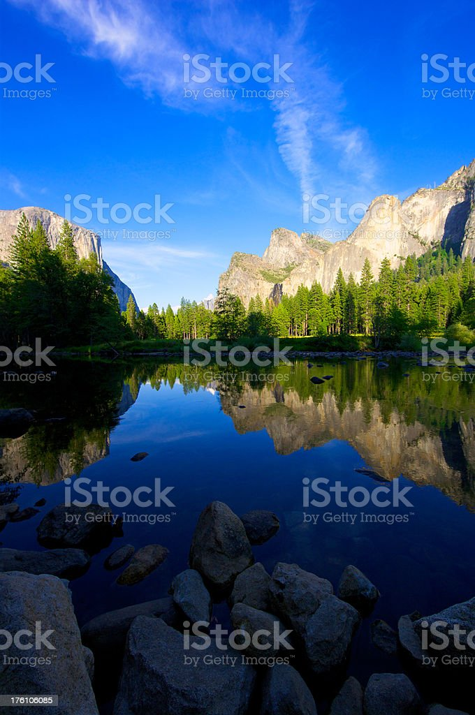 Perfect summer day in Yosemite valley royalty-free stock photo