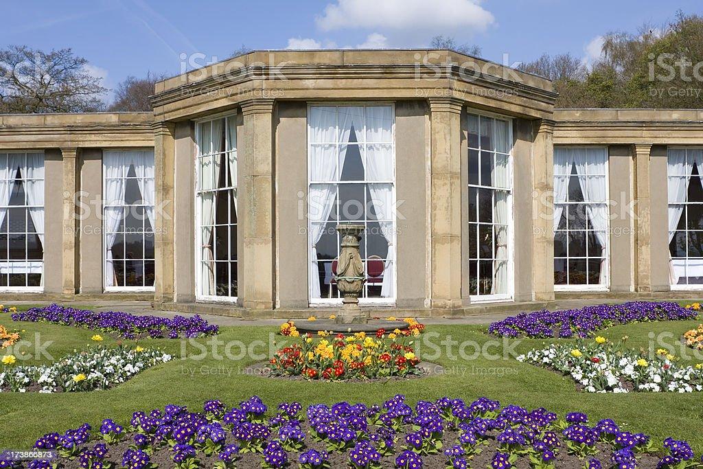 Perfect symmetry, ornamental garden royalty-free stock photo