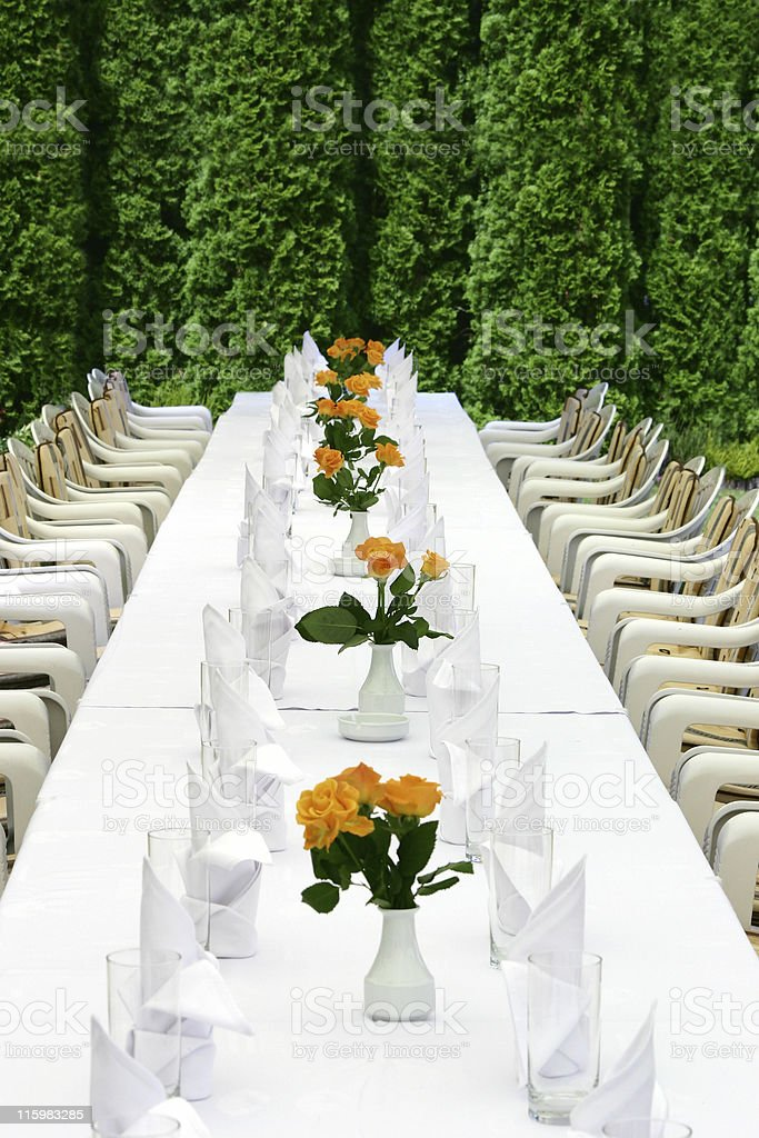 Perfect table royalty-free stock photo