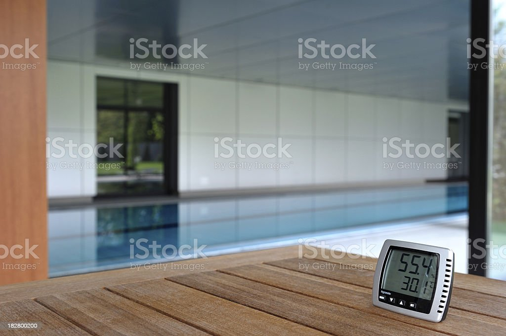 Perfect temperature and humidity at the swimming pool royalty-free stock photo