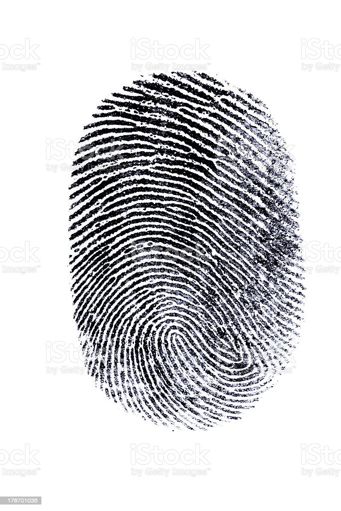 perfect thumb fingerprint stock photo
