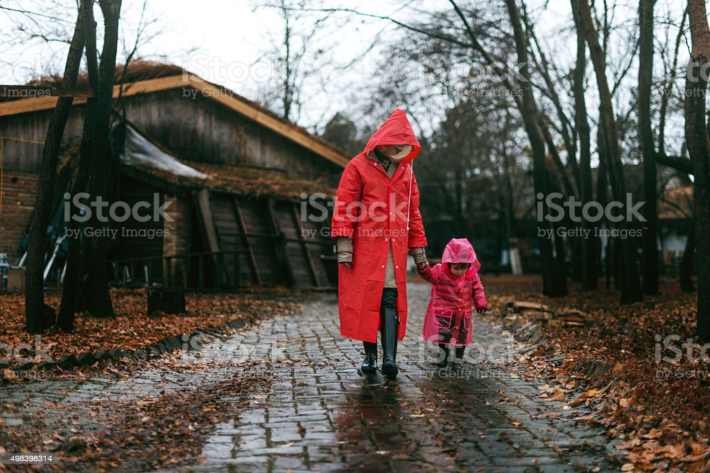 Perfect time for a walk stock photo