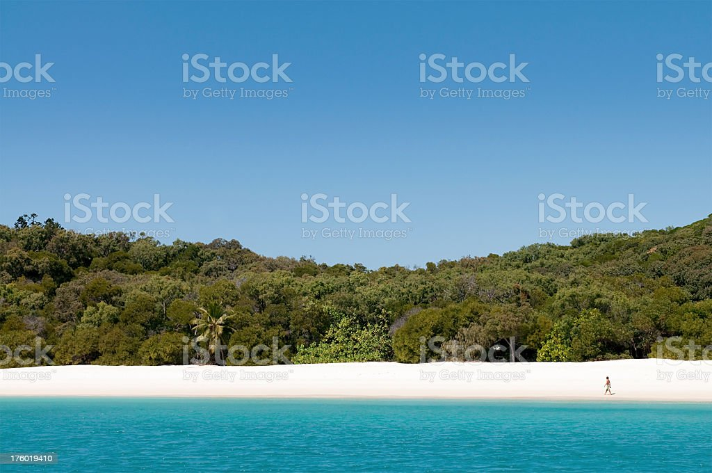 Perfect Tropical Beach from the Sea royalty-free stock photo