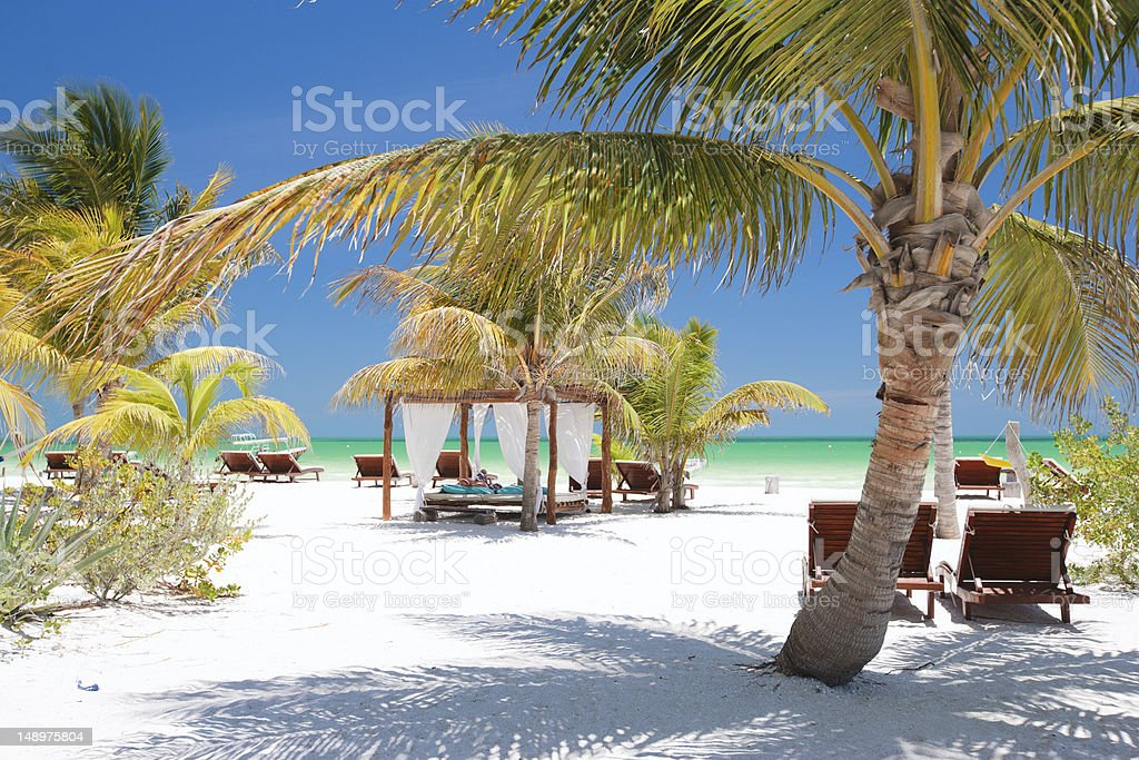 Perfect tropical beach royalty-free stock photo