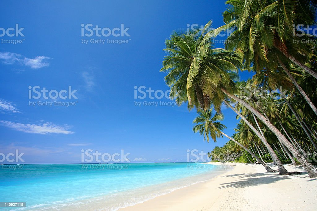Perfect tropical island paradise beach royalty-free stock photo